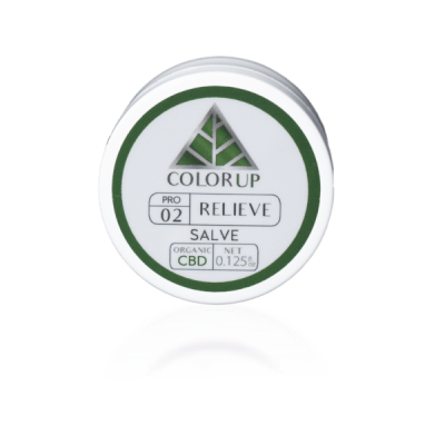 Color Up Relieve - Salve - non-GMO Organic Beeswax and CBD Oil
